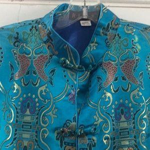 RJ Cheongsam 100% Silk Oriental Shirt Jacket